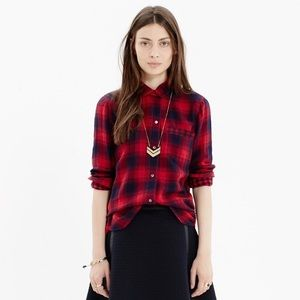 "MADEWELL flannel in ""Albion"" plaid"